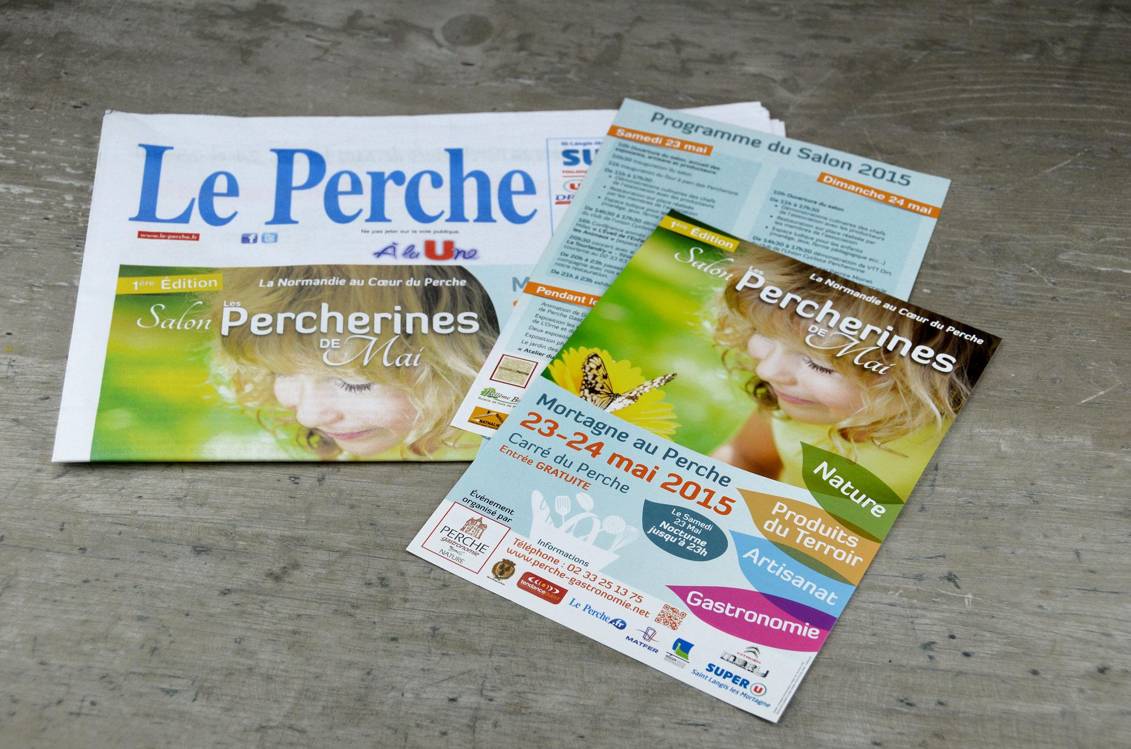 Flyer & Presse - Les Percherines de Mai